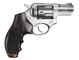 ROSEWOOD STRIPE CAP CHECKERED REVOLVER GRIP - RUGER SP101