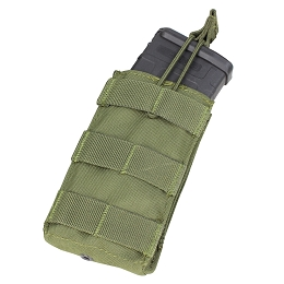 AR / M4 SINGLE OPEN-TOP MAG POUCH - OLIVE DRAB