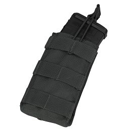 AR / M4 SINGLE OPEN-TOP MAG POUCH - BLACK