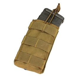 AR / M4 SINGLE OPEN-TOP MAG POUCH - COYOTE BROWN
