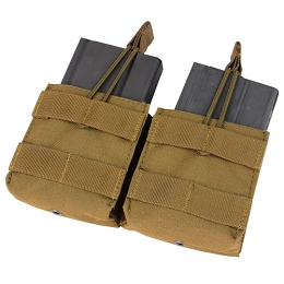 DOUBLE M14 OPEN TOP MAG POUCH - COYOTE BROWN
