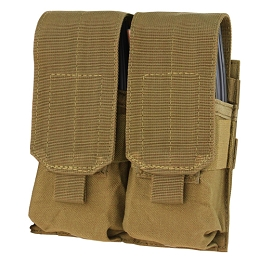 AR / M4 DOUBLE STACKER MAG POUCH - COYOTE BROWN