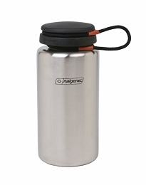 NALGENE 38 OZ WIDE MOUTH STAINLESS STEEL BACKPACKER WATER BOTTLE