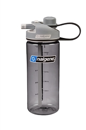 NALGENE 20 OZ MULTIDRINK WATER BOTTLE - GREY