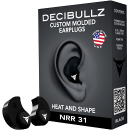 CUSTOM MOULDED EARPLUGS - BLACK