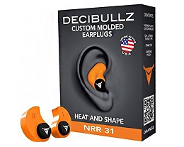 CUSTOM MOULDED EARPLUGS - ORANGE