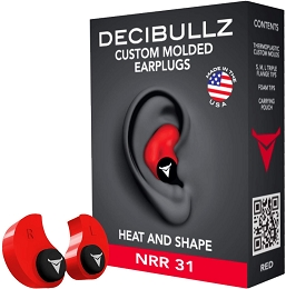CUSTOM MOULDED EARPLUGS - RED