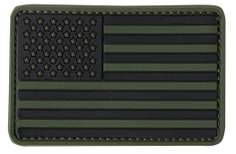 PVC US FLAG PATCH - OLIVE DRAB