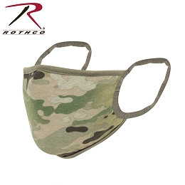 REUSABLE 3-LAYER POLYESTER FACE MASK - MULTICAM / COYOTE BROWN