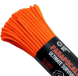 PARAPOCALYPSE ULTIMATE SURVIVAL CORD - 25 FT - ORANGE