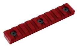 M-LOK PICATINNY RAIL - 9 SLOT - RED