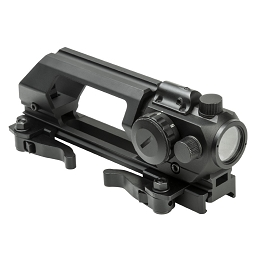 MICRO GREEN DOT SIGHT WITH INTEGRATED RED LASER & ADVANCED CARRY HANDLE COMBO