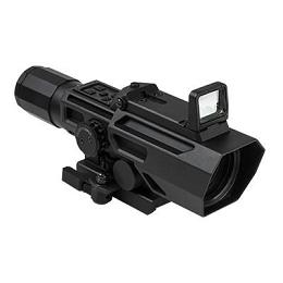ADO 3-9X42 P4 SNIPER SCOPE WITH INTEGRATED FLIP-UP RED DOT SIGHT