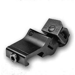 AR-15 45 DEGREE OFF-SET FOLDING REAR SIGHT - PICATINNY RAIL MOUNT