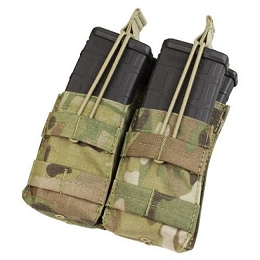AR/M4 DOUBLE OPEN-TOP STACKER MAG POUCH - MULTICAM