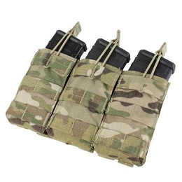 AR / M4 TRIPLE OPEN-TOP MAG POUCH - MULTICAM