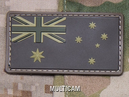 AUSTRALIAN FLAG PVC PATCH - MULTICAM