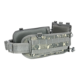 BATTLE BELT WITH PISTOL BELT - DIGITAL CAMO