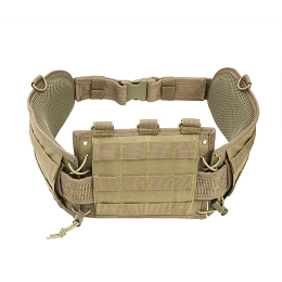 BATTLE BELT WITH PISTOL BELT - TAN