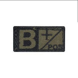 BLOOD TYPE VELCRO PATCH 2