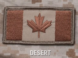 CANADIAN FLAG PATCH - DESERT