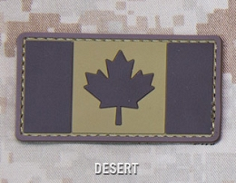 CANADIAN FLAG PVC PATCH - DESERT