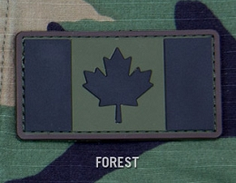 CANADIAN FLAG PVC PATCH - FOREST