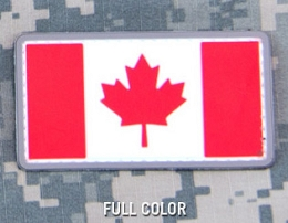 CANADIAN FLAG PVC PATCH - FULL COLOUR