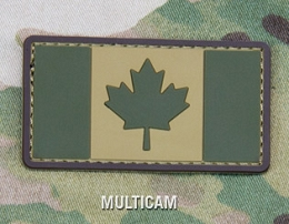 CANADIAN FLAG PVC PATCH - MULTICAM