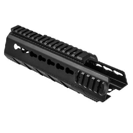 AR-15 CARBINE-LENGTH TRIANGLE KEYMOD HANDGUARD - BLACK ALUMINUM