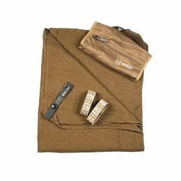 COMPACT MICRO-TERRY TOWEL - LARGE - COYOTE BROWN 50