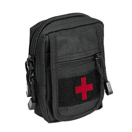 COMPACT TRAUMA KIT WITH TOURNIQUET & POUCH - BLACK