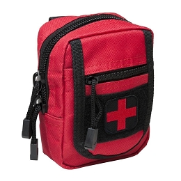 COMPACT TRAUMA KIT WITH TOURNIQUET & POUCH - RED