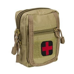 COMPACT TRAUMA KIT WITH TOURNIQUET & POUCH - TAN