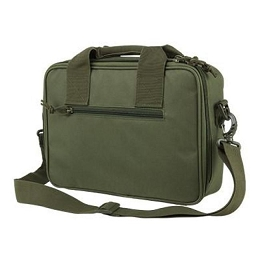 DELUXE DOUBLE PISTOL CASE - GREEN