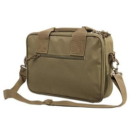 DELUXE DOUBLE PISTOL CASE - TAN
