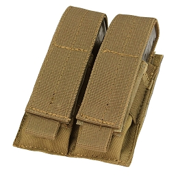 DOUBLE PISTOL MAG POUCH - COYOTE BROWN