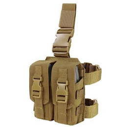 DROP LEG AR / M4 MAGAZINE RIG - COYOTE BROWN