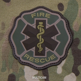 FIRE RESCUE PVC PATCH - MULTICAM