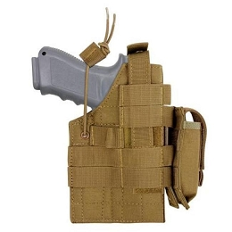 GLOCK AMBIDEXTROUS MODULAR MOLLE HOLSTER - COYOTE BROWN
