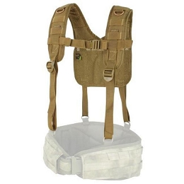 H-HARNESS BATTLE BELT SUSPENDERS - COYOTE BROWN