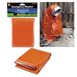 HEAVY DUTY ALUMINISED EMERGENCY BLANKET - ORANGE/REFLECTIVE