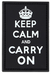 KEEP CALM AND CARRY ON PVC PATCH