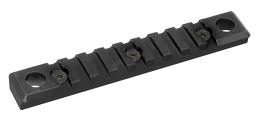 KEYMOD QD PICATINNY RAIL - 9 SLOT - BLACK