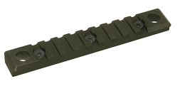 KEYMOD QD PICATINNY RAIL - 9 SLOT - OD GREEN