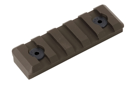 M-LOK PICATINNY RAIL - 5 SLOT - FLAT DARK EARTH