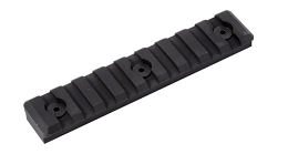 M-LOK PICATINNY RAIL - 9 SLOT - BLACK