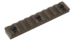 M-LOK PICATINNY RAIL - 9 SLOT - FLAT DARK EARTH