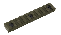 M-LOK PICATINNY RAIL - 9 SLOT - OD GREEN