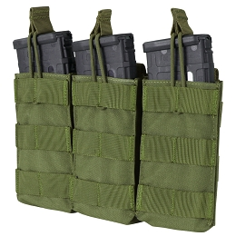 AR / M4 TRIPLE OPEN-TOP MAG POUCH - OLIVE DRAB